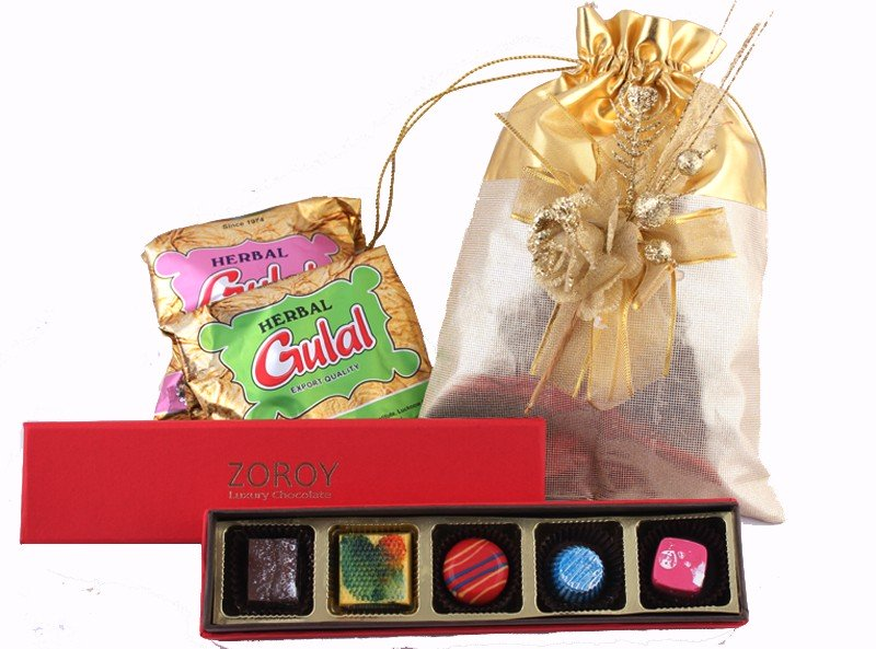 Buy Holi Chocolate Gifts and Colors Online - Zoroy