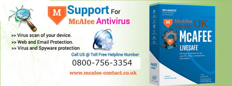 McAfee Antivirus Technical 08007563354 Customer Support Number UK